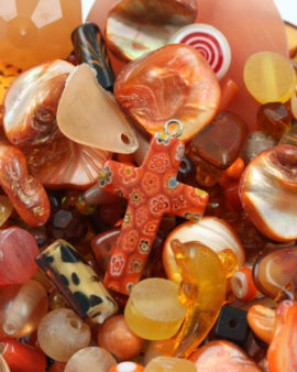 Mix pack orange beads, approx. 210 gr
