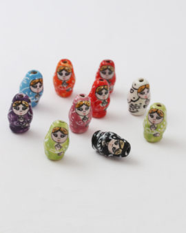 russian porcelain doll beads mix pack