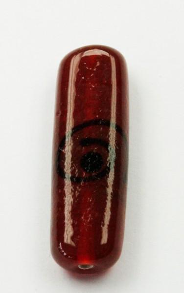 Flat cylinder glass beads