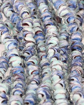 faceted cut glass aqua & purple