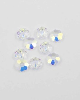 Swarovski Flower shape sew-on 10mm unfoiled. Sold per pack of 10