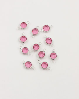 swarovski round channel 2 rings rose