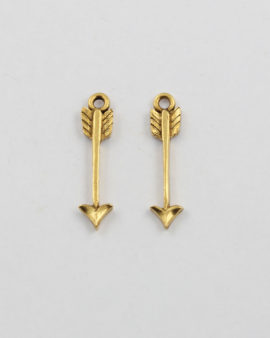 charm arrow antique gold