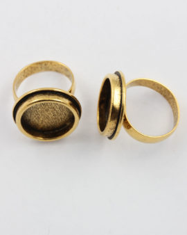 ring base antique gold