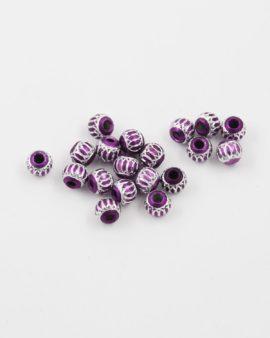 aluminium bead 6mm purple