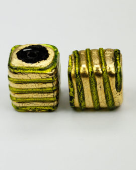 gold leaf glass venetian lime bead