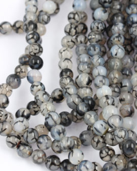 spider agate grey and black 8mm