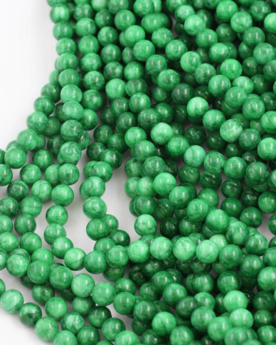 dyed jade 8mm emerald