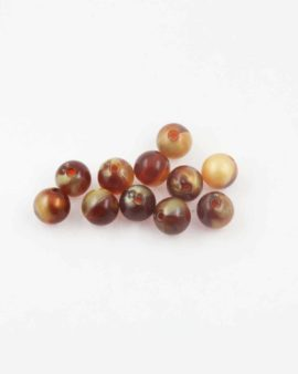 Round resin beads 10mm. Sold per pack of 10