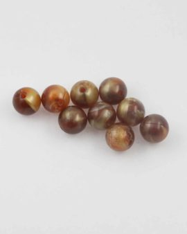Round resin beads 12mm. Sold per pack of 10
