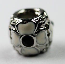 Pandora Style - Flower enamel & Rhinestone