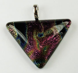 Dichroic Glass, Triangle Pendant
