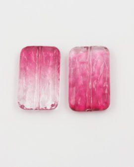 resin bead rectangle shape pink