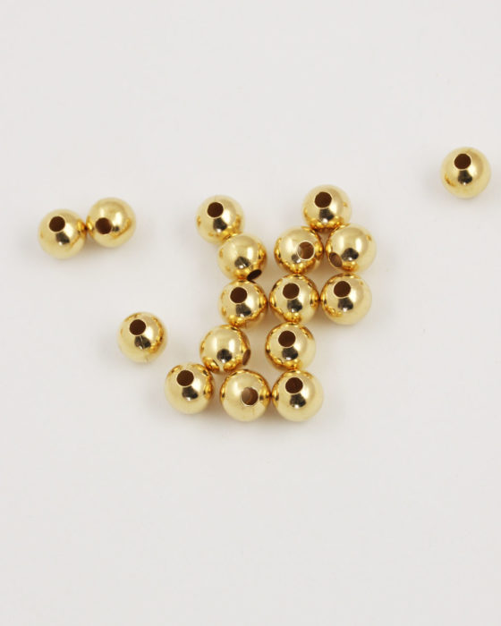 round smooth metal bead 8mm gold