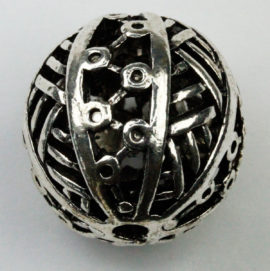 25 mm Hollow bead- Sold by the Piece