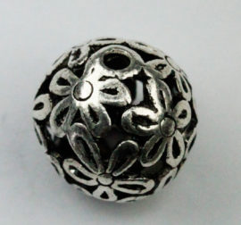 15 mm Hollow bead- Sold by the pack , 10 pieces per pack