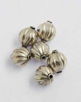 silver olive bead