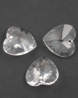 Swarovski xilion heart pendant 28mm #6228 crystal