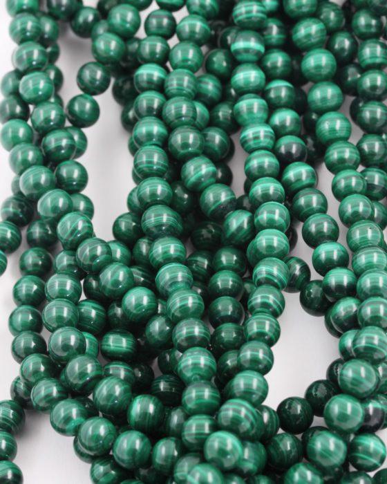 malachite beads 8mm