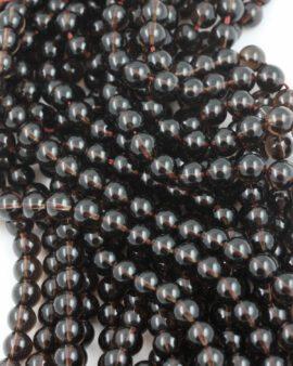 smoky quartz 8mm beads