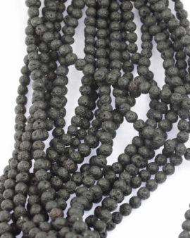 Lava beads 6mm black