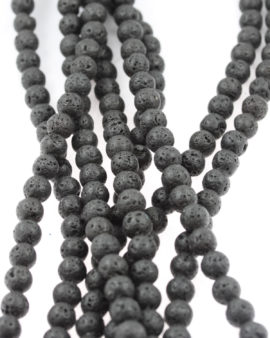 lava beads black 8mm