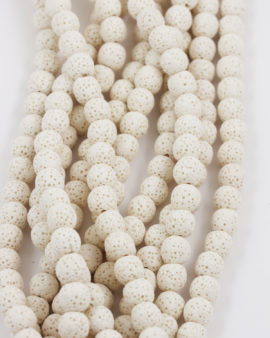lava beads 8mm white