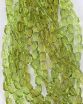 Flat faceted rectangle bead, 4x7x9mm. Sold per strand, approx.43 beads
