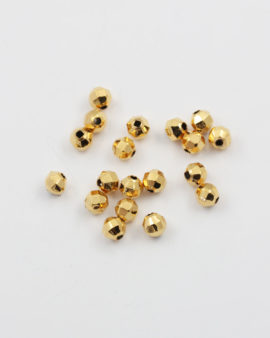 round faceted bead gold