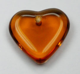 Heart shape beads - Sold per pack of 20 beads