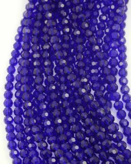Faceted round glass beads 8mm. Sold per string approx. 42 beads