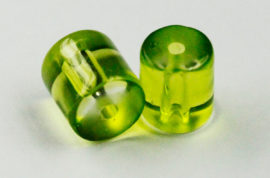 Pressed glass beads cylinder - Sold per pack of 20