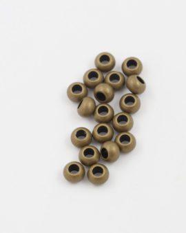 round metal beads 5mm antique brass