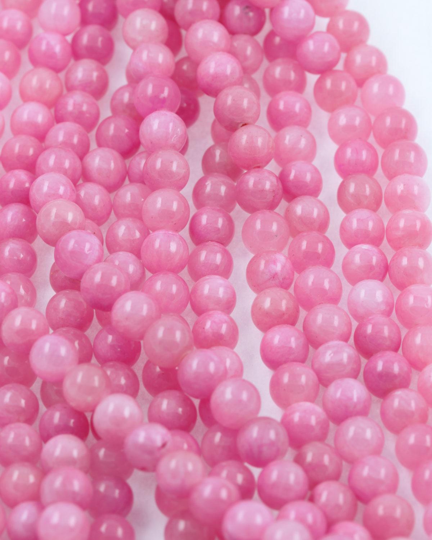 jasper beads pink