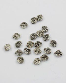 Flat leave metal bead