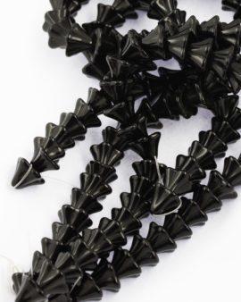 glass cone flower cap black