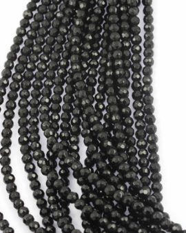 Faceted round glass beads 6mm. Sold per string approx. 50 beads