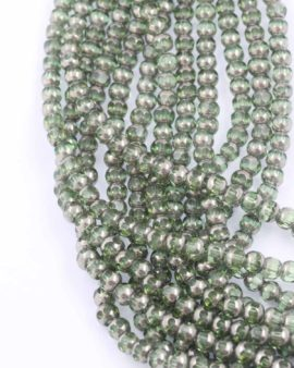 Silver Coated glass 6mm. Sold per string approx. 56 beads