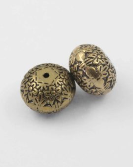Round acrylic plated bead gold NZ
