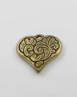 Heart pendant acrylic plated gold NZ