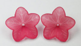 18 mm Acrylic Flower - Sold by the pack, 20 pieces per pack