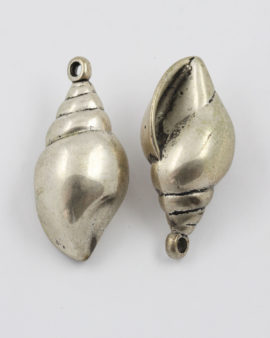 shell pendant antique silver