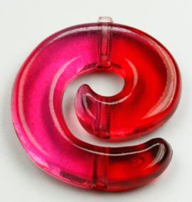 Resin Koru Beads - Sold in pack of 10 ( 1=10 pieces)