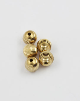 Curved indent brass bead 12mm