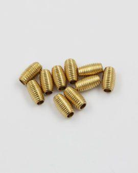 cylinder brass bead