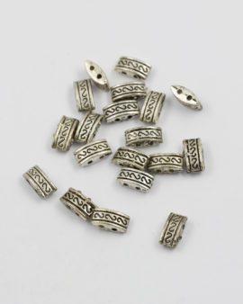 Cushion shape bead antique silver