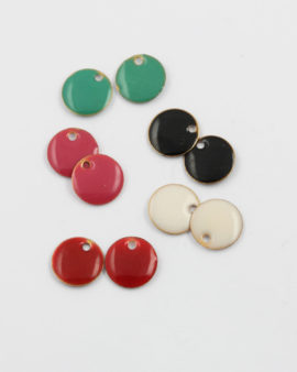 mix pack enamelled round charms 12mm