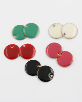 mix pack enamelled round charms 15mm