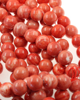 imitation coral shell pearl beads pink & red coral