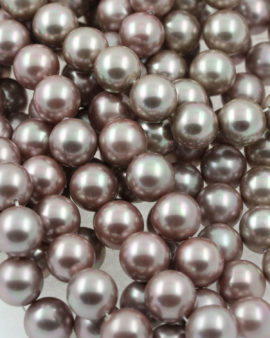 shell pearls beads pearly fawn
